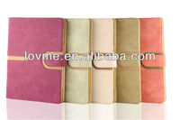 Suede Leather Smart Case Rotating Case for New iPad2/3/4+ Sleep Wake
