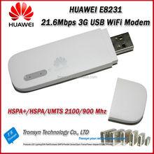New Arrival Original Unlock HSPA+ 21.6Mbps HUAWEI E8231 USB 3G WiFi Modem And USB WiFi Dongle