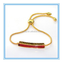 2015 new product fashion monica stainless steel bracelet colorful Zircon