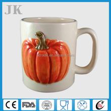 Wholesale unique ceramic Halloween pumpkin mug for party