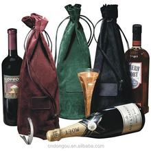 wholesale jute bottle wine felt tote bag