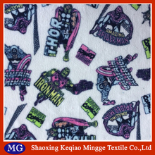 Shaoxing Keqiao 100 polyester printed coral fleece fabric