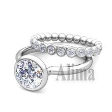 Y00499 big gold ring,diamond white gold ring,14k 585 white gold ring
