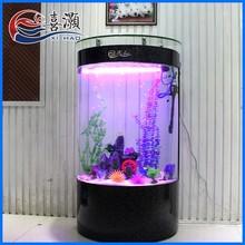 CMH2 Eco-friendly Fish Tank Semicircular Cylindrical Glass Aquariums