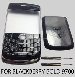 Black full housing battery cover case with keypad for blackberry bold 9700