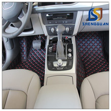 Eco-friendly And Fashionable 5D pu leather handsewing car floor mat