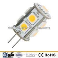 Factory sale 12V 2pin 360 degree 5050 SMD High Lumen LED G4 1.5W