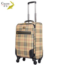 Hot new product unisex custom fancy luggage with retractable wheels
