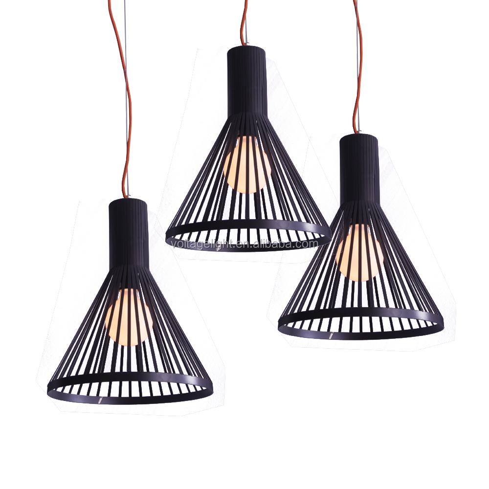 decorativi portato di ferro nero linea pendente illuminazione con ...