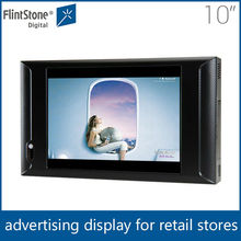 "flintstone 10 inch advertising media screen, digital lcd advertising screen, 10"" motion sensor activated pos video player"