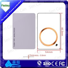 Free Sample 125KHZ RFID Blank Card/ PVC Card with CE/ROHS