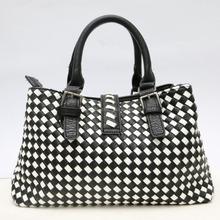 Black and White brand Fantastic Gorgeous Bag Korean WEAVING GRID Style Lady Hobo PU Handbag Shoulder Bag