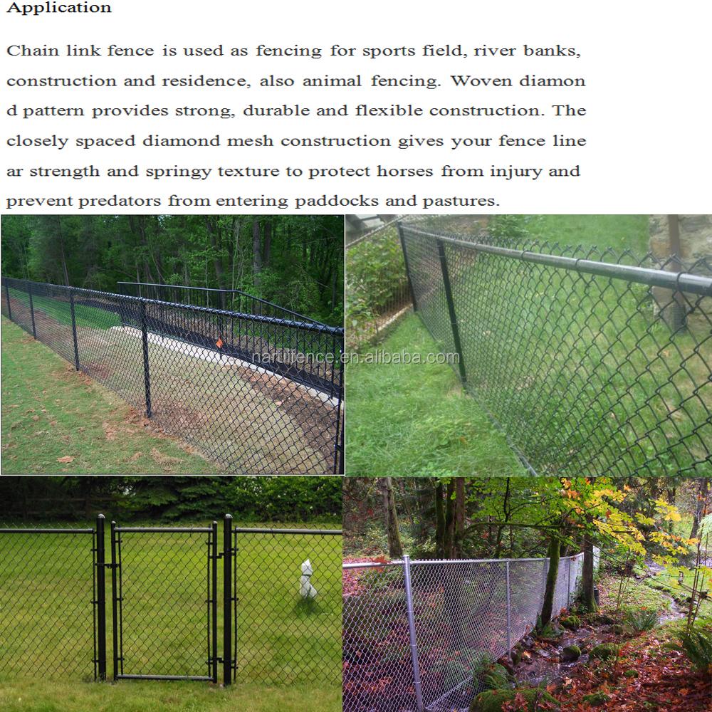 Black vinyl coated chain link fence buy