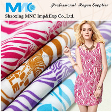 100% rayon fabric printing zebra printer