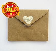 2015 hot printed colorful kraft paper envelope made in China