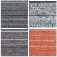 Embossed metal panels/pu exterior sandwich wall panel/metallic embossing decoration panel