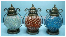 glass mosaic lantern lamp for candle