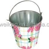 Flower Print Ice Buket/ Beverage Holder/5L Party cooler/Garden Beer Bucket/Pails