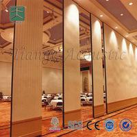 Decorative wood carve acoustic 3d wall sliding closet door panel