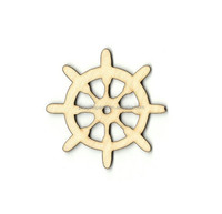 Hot sell Ships Wheel Laser Cut Outs Unfinished Wood Shapes Variety made in China