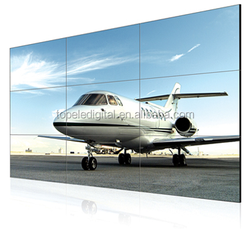 55'' wall-mounted 3.9mm ultra narrow bezel led DID video wall screen