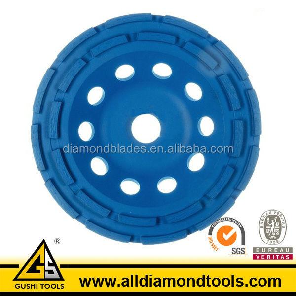 EN13236 Double Row Diamond Grinding Cup Wheel for Concrete