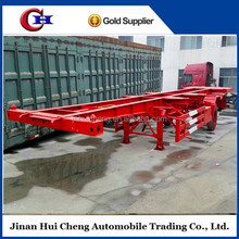 China 40ft skeleton semi trailer container trailer chassis