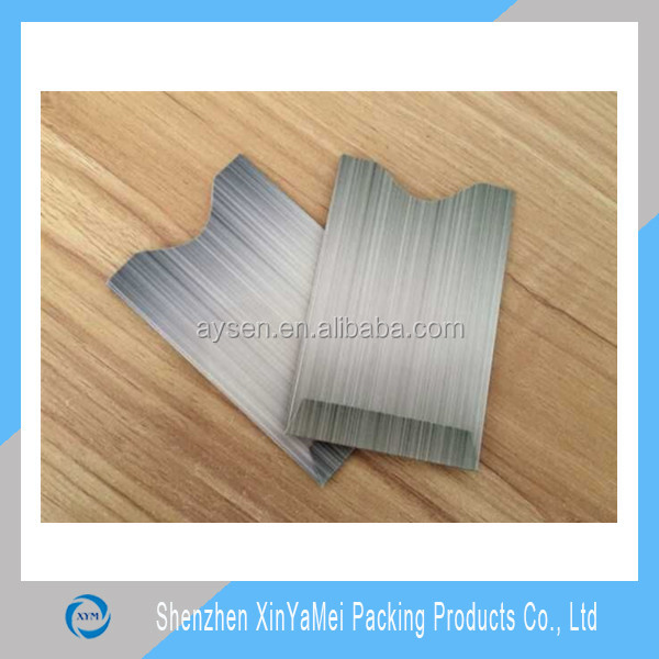 RFID card aluminium foil paper rfid credit card holder