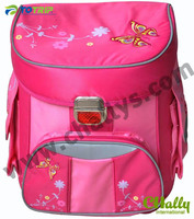 NEW Fashion Pink butterfly EVA school bags for girl