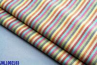 plain weaving rainbow stripe linen cotton fabric with soft hand leel
