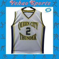Low MOQ cheap sample reversible basketball jersey custom number