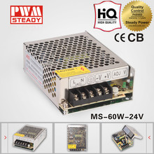 hot sale CE Mini Universal ac/dc Input 110v/220v output 60W 24V 2.5a switching power supply / transformator