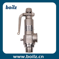 External thread steam boiler safety valve with casted connecting lever