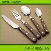 stainless steel wooden handle cutlery/flatware