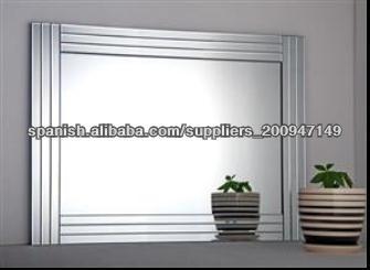 Vidrio en el vidrio espejos de pared marco del espejo for Espejo marco cristal