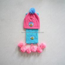 kids 100% fleece fashion hat,scarf and gloves sofa set