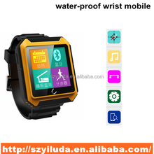 watch type mobile phone,support water-proof bluetooth