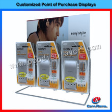 Retail shop counter metal mobile phone accessory display stand