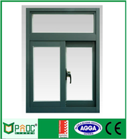 Toliet PNOC Aluminum double glazing sliding window with flyscreen made in shanghai factory