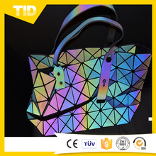 Colorful Reflective TPU Leather Custom Ladies Shoulder Bag Tote