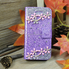 Luxury Bling Crystal Shimmering Diamond Magnetic Flip Leather Case Cover For Apple for iPhone 4 4S