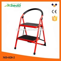 Household safety multi-purpose wide step folding osha ladder cage (MD-828-2)