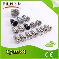 Momentary 12v stainless steel Flat head Push Button Switch