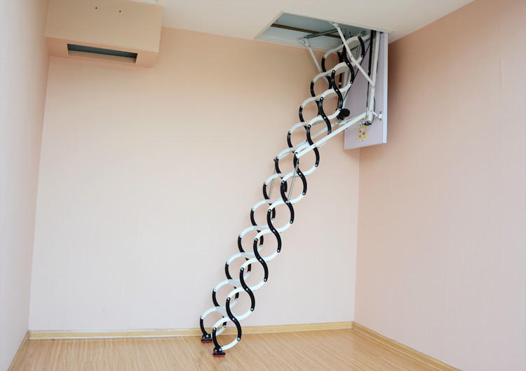 Electric attic folding stairs space saving loft ladders buy folding stairs attic folding - Space saving sliding closet doors and pros and cons ...
