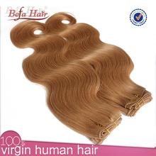 Comercio al por mayor de alta calidad de la onda del cuerpo del pelo indio remy rubio <span class=keywords><strong>cabello</strong></span> ondulado