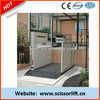 Electric hydraulic wheelchairs lifts