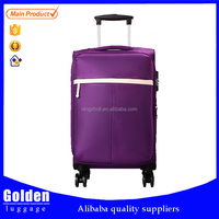 2015 New Arrival Fashion Style Promotional nylon soft Travelling Trolley Luggage
