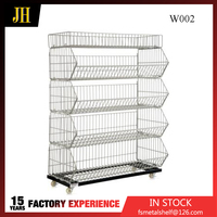 3'' pp Wheels Promotion Wire Cage Without Lid