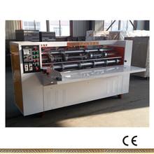 corrugated thin blade slitter scorer and creasing machine/packing machine