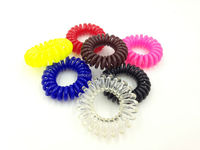 Telephone Wire Coil Elastic Band Ponytail Holder 2000pcs/lot Assorted Colors Free Shipping Cost by Express